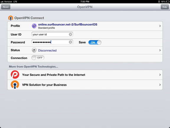 setup openvpn in iPhone/iPad, step 3