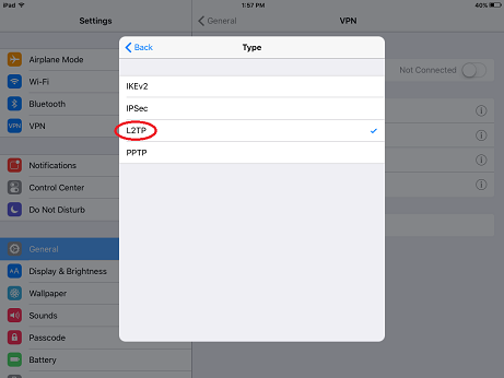 setup vpn in iPhone/iPad 2