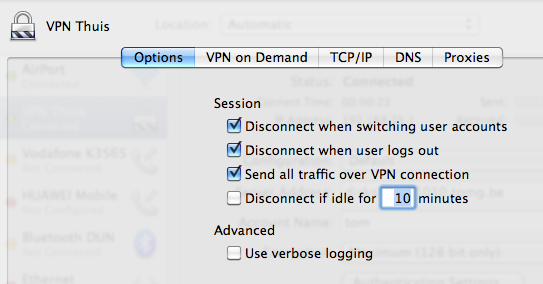 Setup VPN in Mac OS X - 10